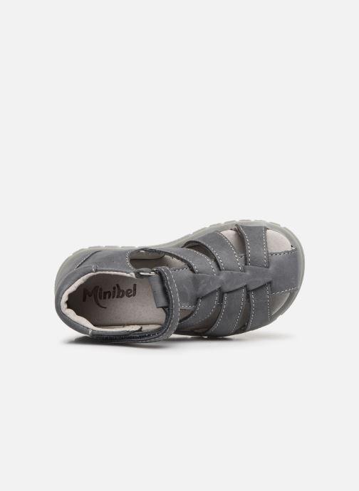 Sandales et nu-pieds Minibel Pavie Gris vue gauche
