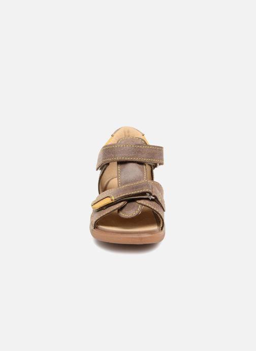 Sandales et nu-pieds Minibel Pierrot Marron vue portées chaussures