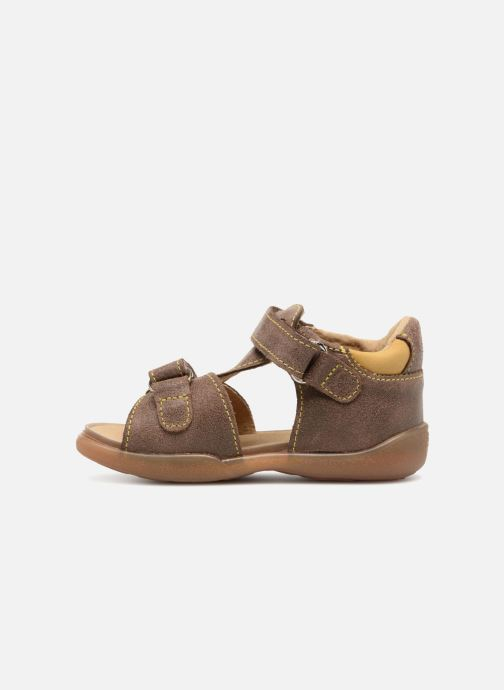 Sandales et nu-pieds Minibel Pierrot Marron vue face