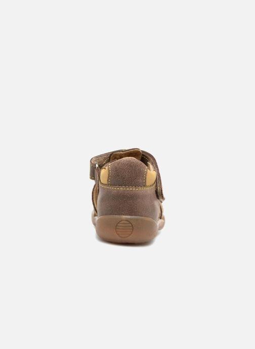 Sandales et nu-pieds Minibel Pierrot Marron vue droite