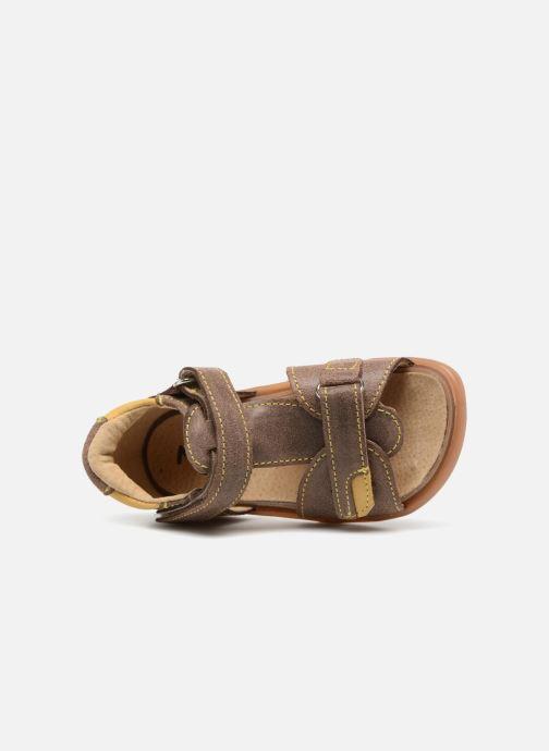 Sandales et nu-pieds Minibel Pierrot Marron vue gauche