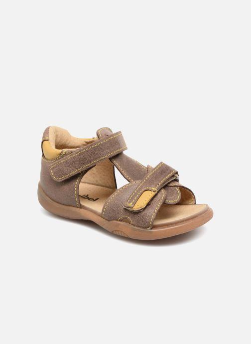 Sandales et nu-pieds Minibel Pierrot Marron vue détail/paire