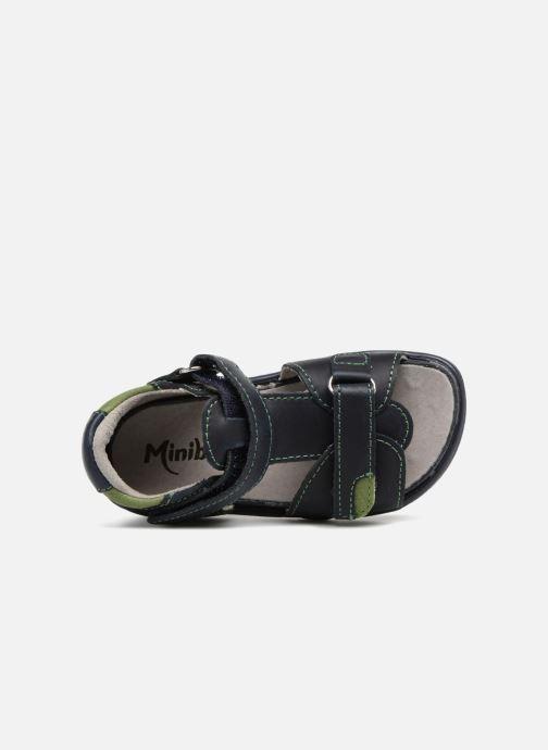 Sandales et nu-pieds Minibel Pierrot Bleu vue gauche
