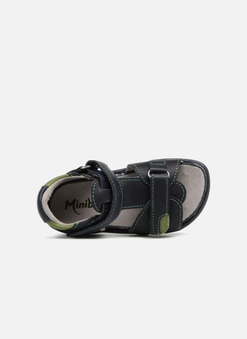 Sandals Minibel Pierrot Blue view from the left