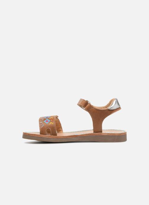 Sandales et nu-pieds Minibel Porquerol Marron vue face