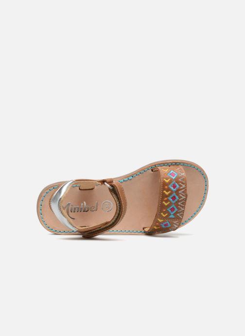 Sandales et nu-pieds Minibel Porquerol Marron vue gauche