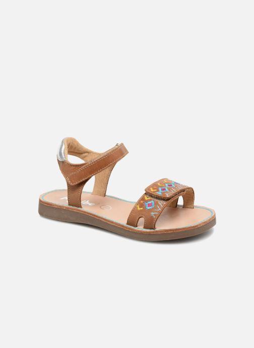 Sandales et nu-pieds Minibel Porquerol Marron vue détail/paire