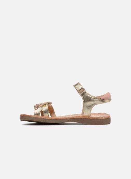 Sandales et nu-pieds Minibel Porquerol Or et bronze vue face