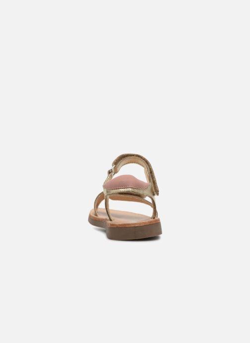 Sandalias Minibel Porquerol Oro y bronce vista lateral derecha