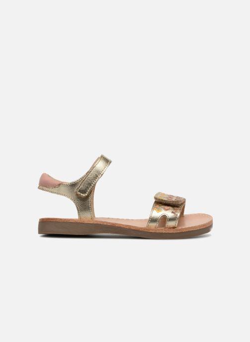 Sandalias Minibel Porquerol Oro y bronce vistra trasera