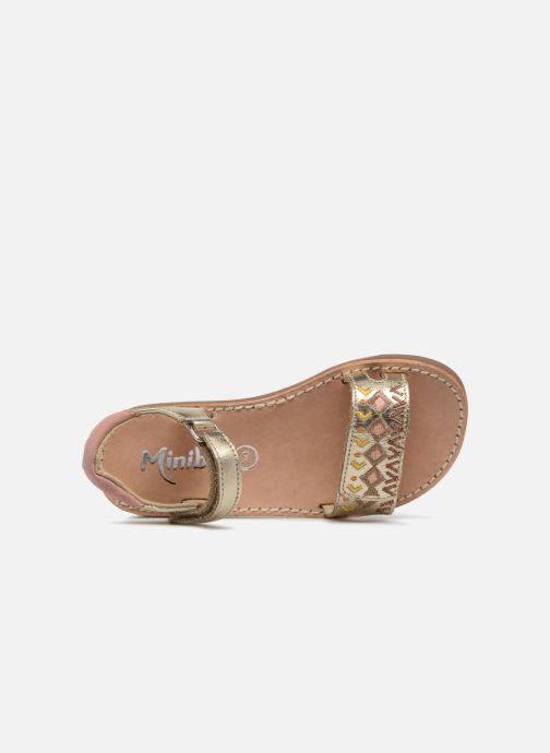 Sandalias Minibel Porquerol Oro y bronce vista lateral izquierda