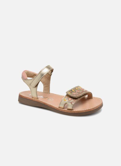 Sandales et nu-pieds Minibel Porquerol Or et bronze vue détail/paire