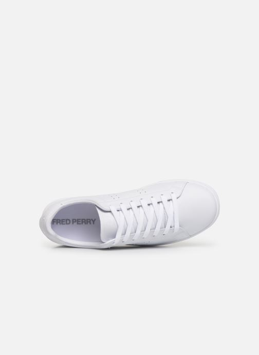 Baskets Fred Perry B721 Leather Blanc vue gauche