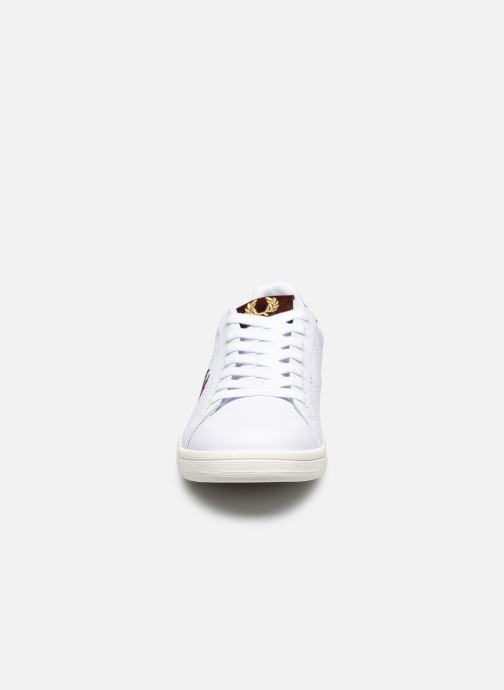 Sneaker Fred Perry B721 Leather weiß schuhe getragen