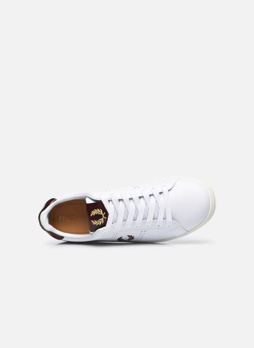 Sneaker Fred Perry B721 Leather weiß ansicht von links