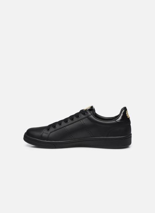 Sneaker Fred Perry B721 Leather schwarz ansicht von vorne