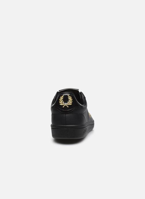 Sneaker Fred Perry B721 Leather schwarz ansicht von rechts