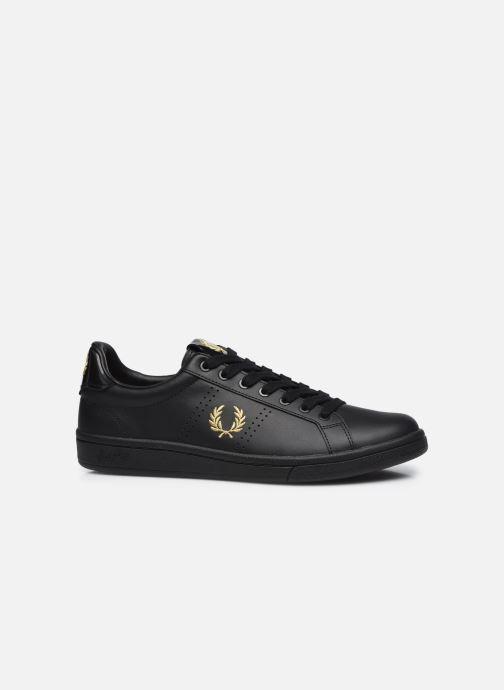 Sneaker Fred Perry B721 Leather schwarz ansicht von hinten