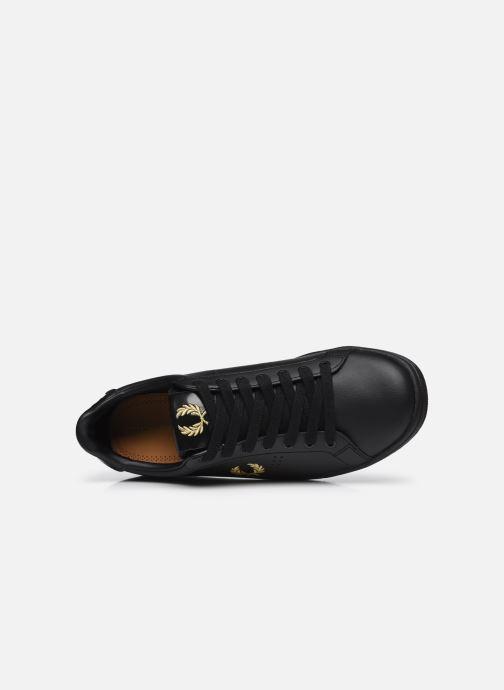 Sneaker Fred Perry B721 Leather schwarz ansicht von links
