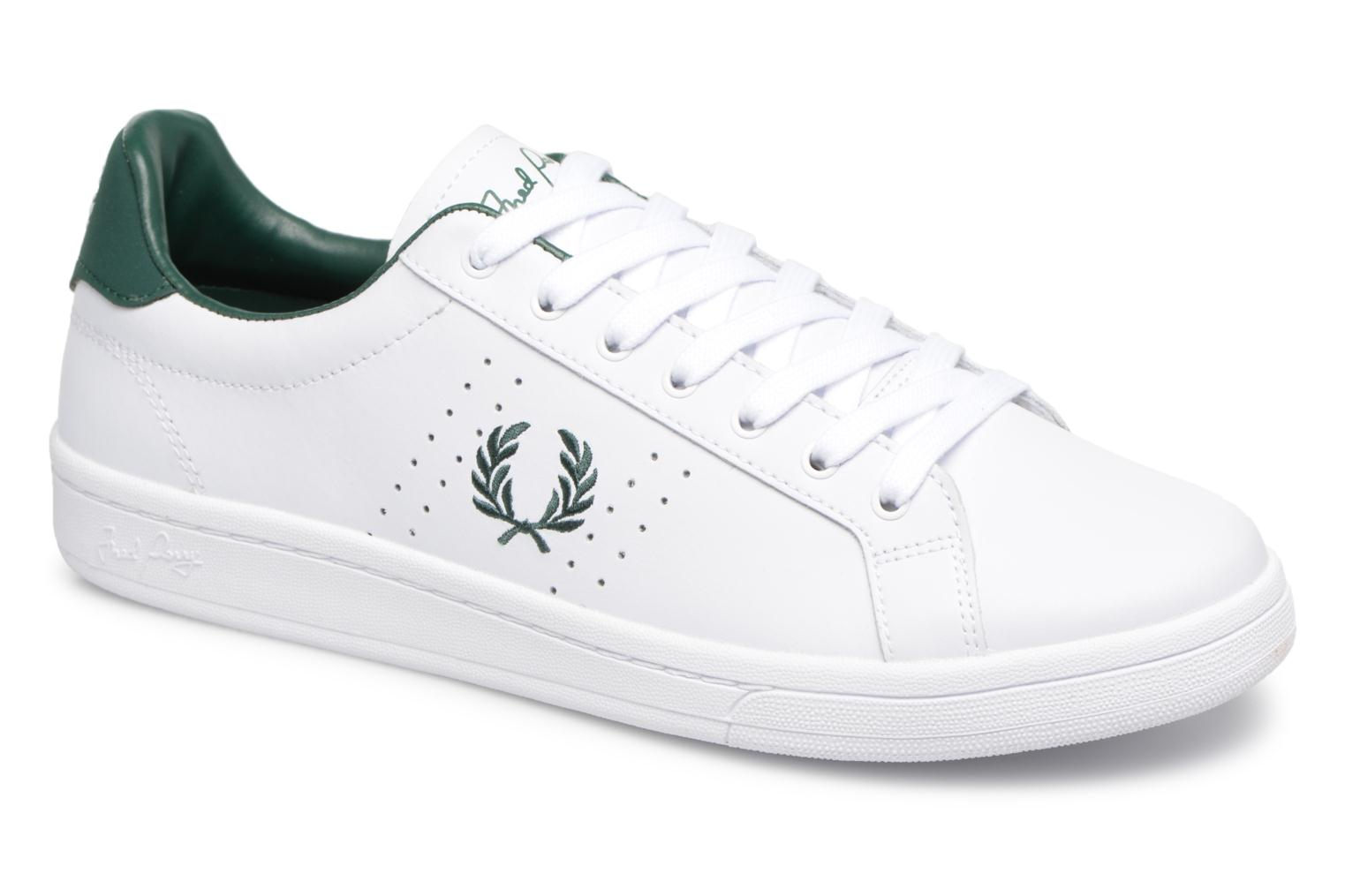Baskets Fred Perry B721 Leather Blanc vue détail/paire