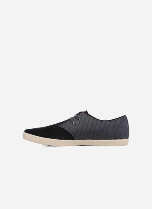 Baskets Fred Perry Byron Low Bedford Cord/ Suede Bleu vue face