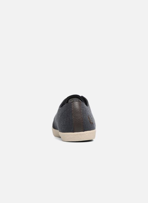 Baskets Fred Perry Byron Low Bedford Cord/ Suede Bleu vue droite