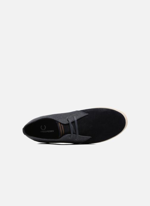 Baskets Fred Perry Byron Low Bedford Cord/ Suede Bleu vue gauche