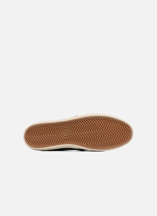 Baskets Fred Perry Byron Low Bedford Cord/ Suede Bleu vue haut