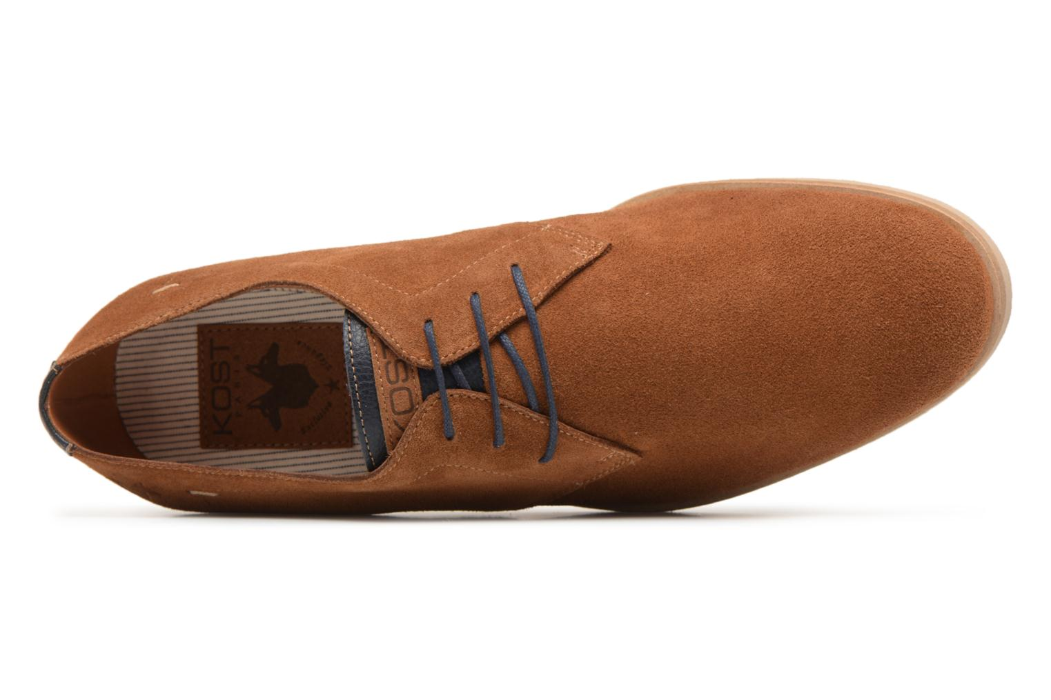 Lace-up shoes Kost Acteur 5A Brown view from the left
