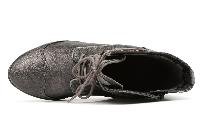 Bottines et boots Mustang shoes 1187517 Damen Schnür-Stiefelette Gris vue gauche