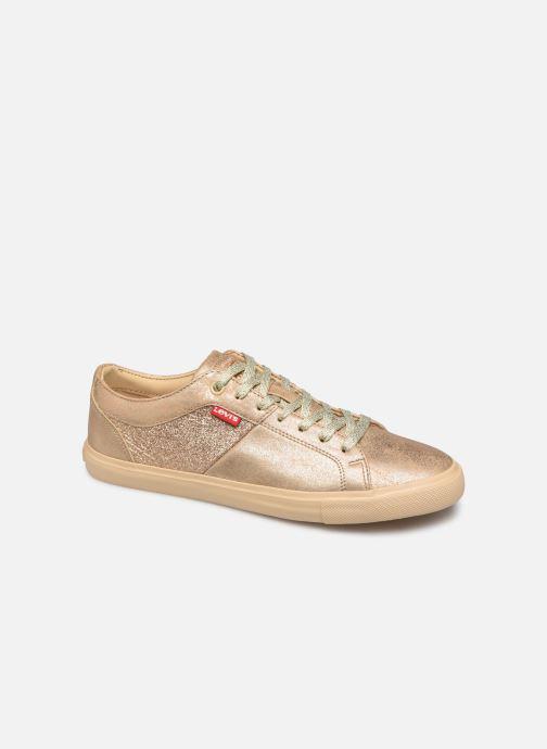 Sneakers Levi's Woods W Guld og bronze detaljeret billede af skoene