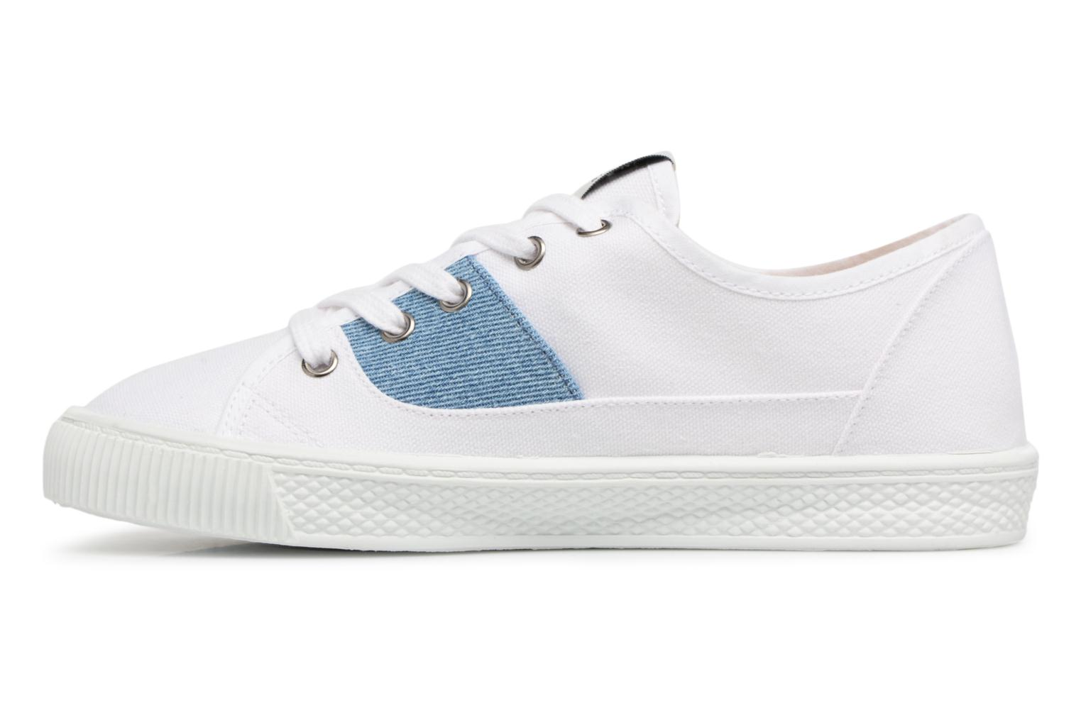 Sneakers Levi's Malibu Lady Patch Wit voorkant