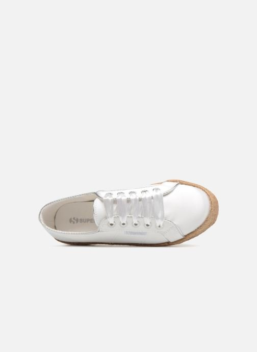 Espadrilles Superga 2730 Satin Cotme Wit links