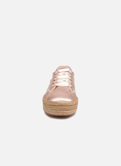 Espadrilles Superga 2730 Satin Cotme Rose vue portées chaussures