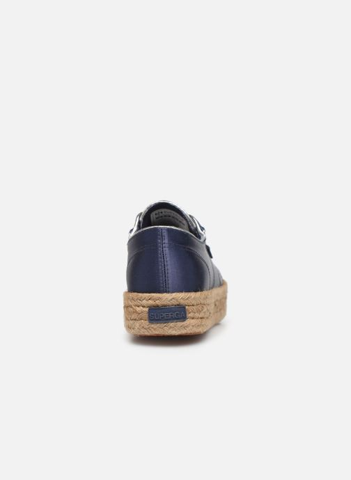 Espadrilles Superga 2730 Satin Cotme Blue view from the right