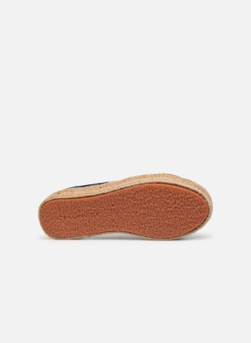 Espadrilles Superga 2730 Satin Cotme Blue view from above