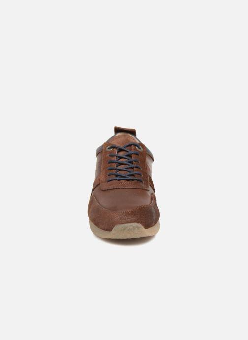 Sneakers Kickers Olympei Marrone modello indossato