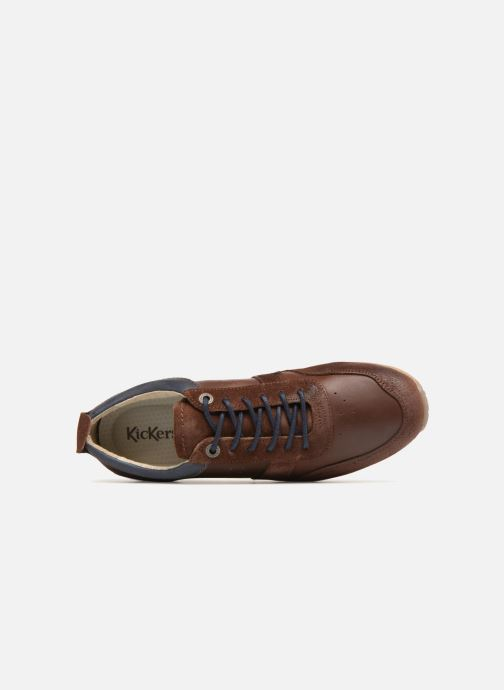 Sneakers Kickers Olympei Marrone immagine sinistra