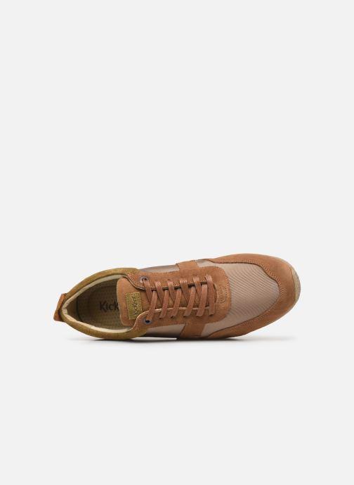 Sneakers Kickers Olympei Beige immagine sinistra