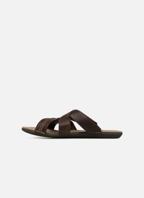 Sandales et nu-pieds Kickers Sparto Marron vue face