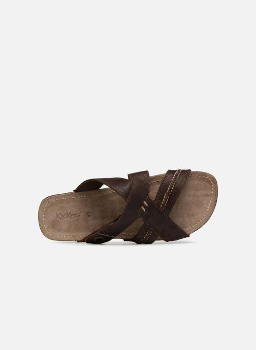 Sandales et nu-pieds Kickers Sparto Marron vue gauche