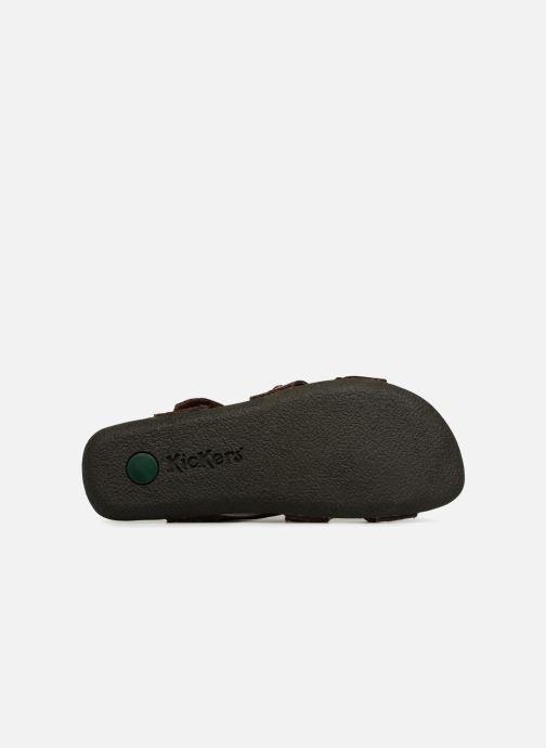 Sandales et nu-pieds Kickers Sparto Marron vue haut