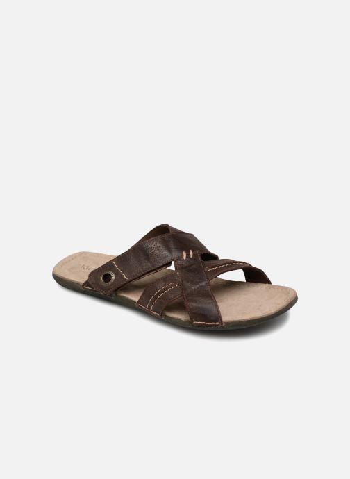 Sandales et nu-pieds Kickers Sparto Marron vue détail/paire