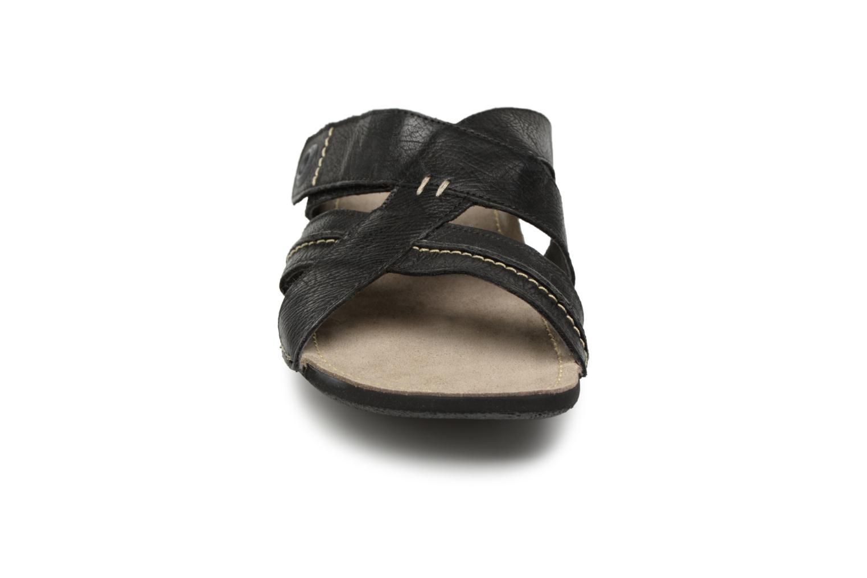 Sandales et nu-pieds Kickers Sparto Noir vue portées chaussures
