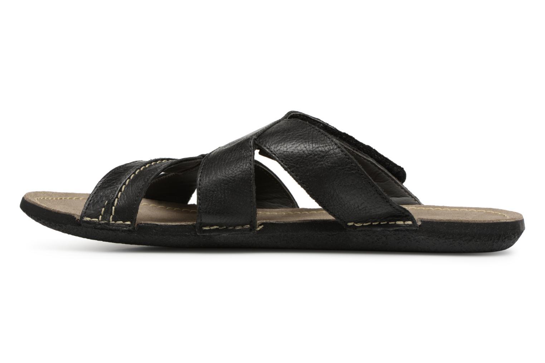 Sandales et nu-pieds Kickers Sparto Noir vue face