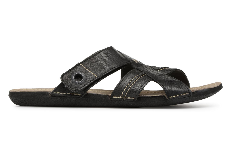 Sandales et nu-pieds Kickers Sparto Noir vue derrière