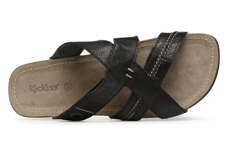 Sandales et nu-pieds Kickers Sparto Noir vue gauche