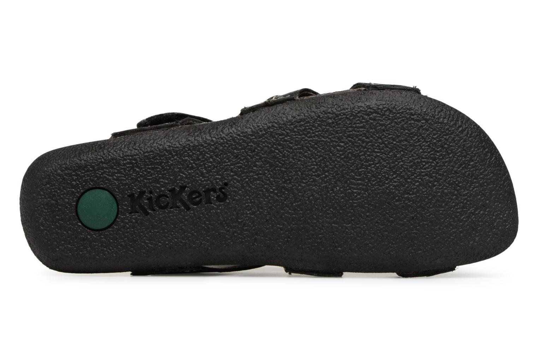 Sandales et nu-pieds Kickers Sparto Noir vue haut