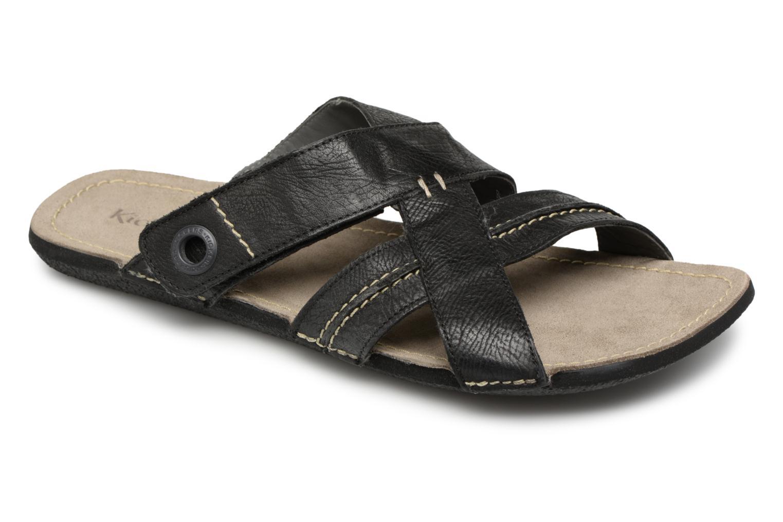 Sandales et nu-pieds Kickers Sparto Noir vue détail/paire
