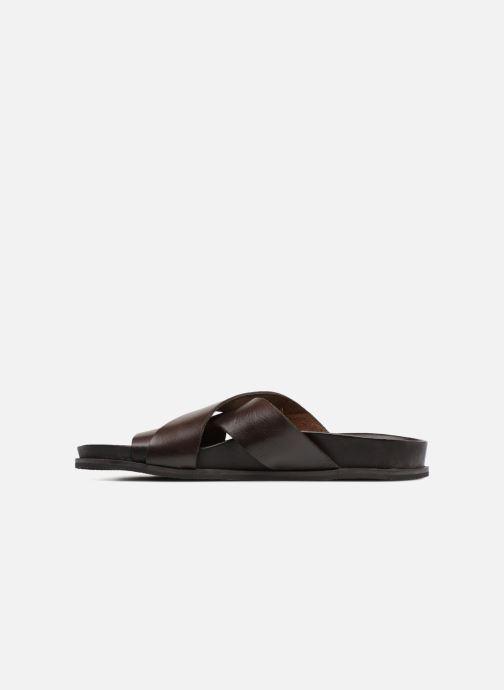 Sandales et nu-pieds Kickers Sandola Marron vue face